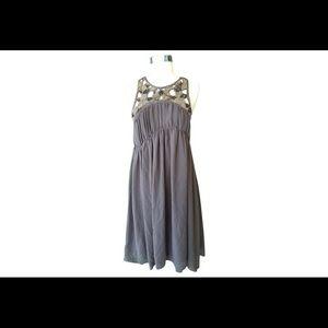 Zara beaded silver and gray dress NWT